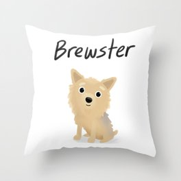 "Custom Artwork, ""Brewster"" Throw Pillow"
