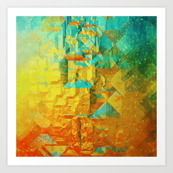 Golden Art Print