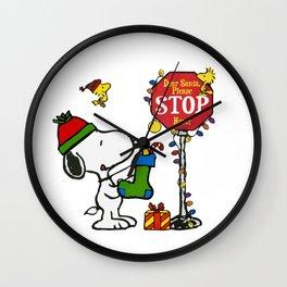 dear santa please stop Wall Clock