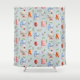 Unusual couples Shower Curtain