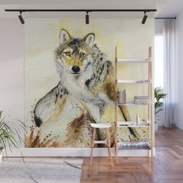 Totem Grey wolf Wall Mural