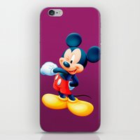 mickey iPhone & iPod Skins featuring Mickey by loveme