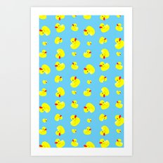 Rubber Duck Pattern Art Print