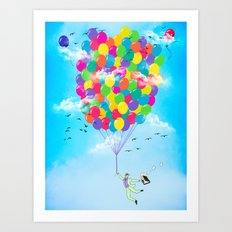 Neon Flight Art Print