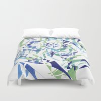 dolphins Duvet Covers featuring DOLPHINS by Alex Rocha