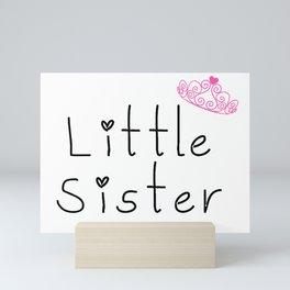 Little sister Mini Art Print