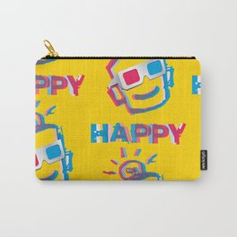 3D HAPPY Carry-All Pouch
