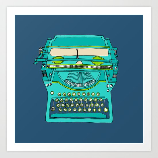 Typewriter Number Five Art Print