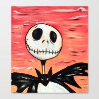 jack skellington Canvas Prints featuring Jack Skellington by MSG Imaging
