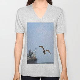 Bird on the Pier Unisex V-Neck