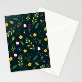 Floral Greenery Pattern I Stationery Cards