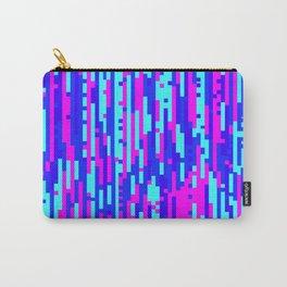 Cyber Wavy Digital Glitch Art Carry-All Pouch