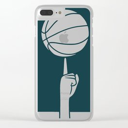 Basketball spinning on finger Clear iPhone Case