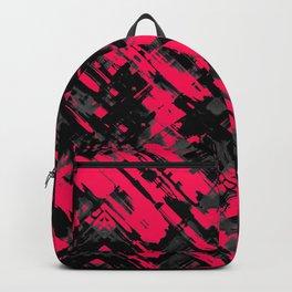 Hot pink and black digital art G75 Backpack