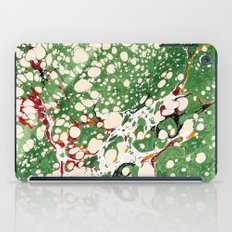 Marbled Green Bubbles iPad Case