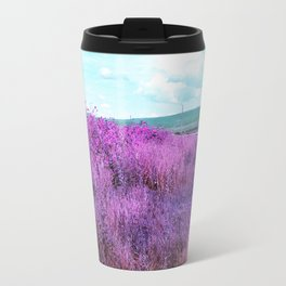 Wild Sunflowers by the Road Metal Travel Mug