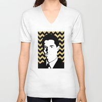 dale cooper V-neck T-shirts featuring Special Agent Dale Cooper by TwO Owls