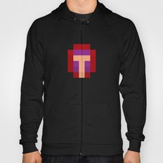 hero pixel purple red Hoody