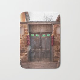 Doorway and Ristras in Lincoln, NM. Bath Mat