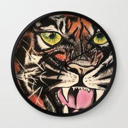Baby Tiger by Noelle's Art Loft Wall Clock