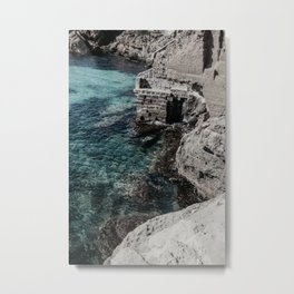 Italian Cliff Coast Metal Print