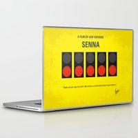 senna Laptop & iPad Skins featuring No075 My senna minimal movie poster by Chungkong