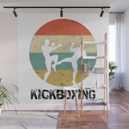 Kickboxing Kickboxer Vintage Gift for Martial Arts Fighters Wall Mural