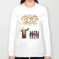 read Long Sleeve T-shirts featuring Read by Ƃuıuǝddɐɥ-sı-plɹoʍ-ɹǝɥʇouɐ