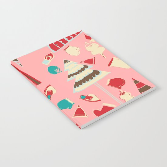 Vintage Christmas Pink Notebook