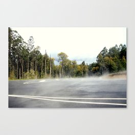 Letting off Steam Canvas Print