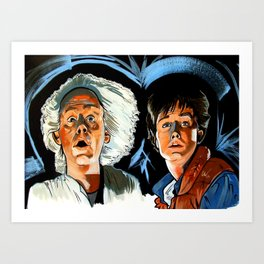 Doc and Marty. Art Print