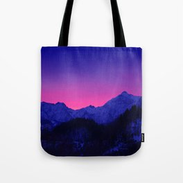 Dawn in Mountains Tote Bag