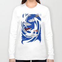 sharks Long Sleeve T-shirts featuring Sharks. by Sylvie Heasman