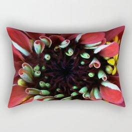 Red Zinnia Rectangular Pillow