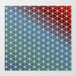 Geometric Swan gradient pattern Canvas Print