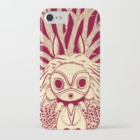 mononoke iPhone & iPod Cases featuring Princess Mononoke by andbloom