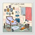 Cat Lady's Home by catvshuman