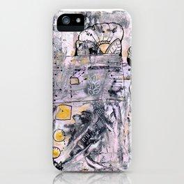 Abstrat Art gold pink iPhone Case