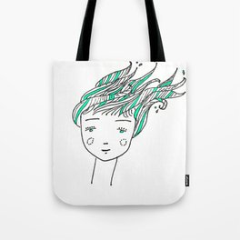 Wet Hair Tote Bag