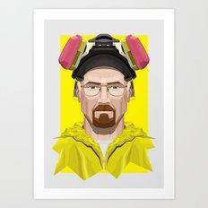 Breaking Bad - Walter White in Lab Gear Art Print