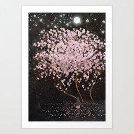 magnolia at night Art Print