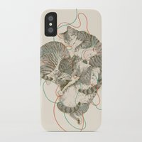 cats iPhone & iPod Cases featuring cats by Laura Graves