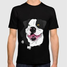 Bubba, the American Bulldog MEDIUM Black Mens Fitted Tee