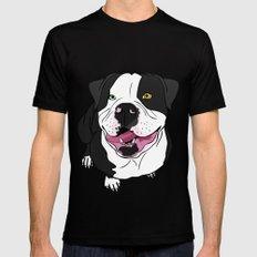 Bubba, the American Bulldog Mens Fitted Tee MEDIUM Black
