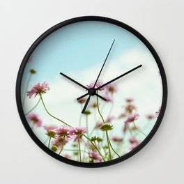 Pincushion Flower Wall Clock