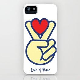 Love & Peace iPhone Case