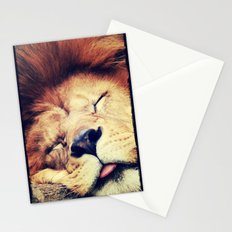 Sleeping Lion - for iphone Stationery Cards