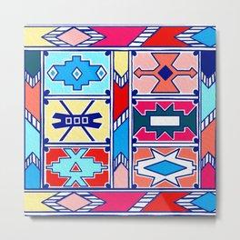 Ndebele Pattern - Pantone Spring Summer 2020 Metal Print