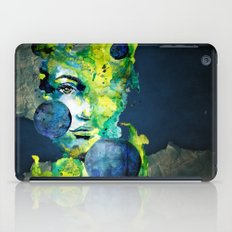 Evelin Green (Set) by carographic watercolor portrait iPad Case
