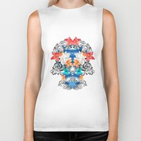 hawaiian Biker Tanks featuring Hawaiian Skull by Anis